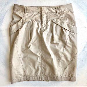 Zara Khaki Color Pencil Skirt Right Above the Knee